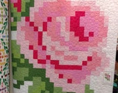 SALE Pink Pixelated Rose Quilt Top KIT - Riley Blake Designs