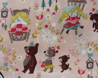 1 yard Goldilocks Coral Main Goldi fabric by Riley Blake Designs by Jill Howarth fat quarter half