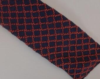 Vintage 60s Knit Square-end Men's Necktie