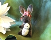 Frost a OOAK Mohair Hand Stitched Winter Bunny SALE