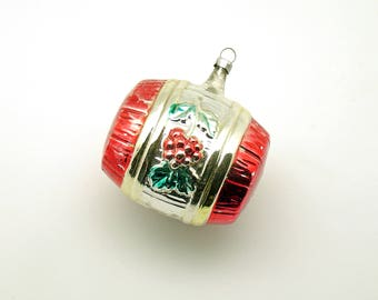 Vintage Christmas Ornament Glass Beer Barrel Wine Cask Christmas Decoration