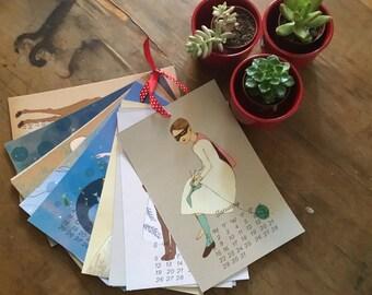 SALE 2017 Calendar : Fairy Tale Girl collection, Whimsical wall calendar by Irena Sophia