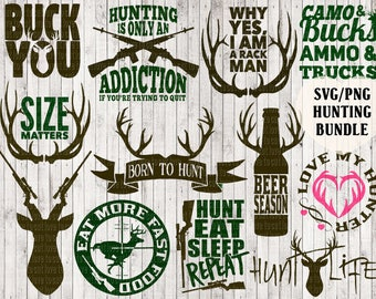 hunting svg bundle, deer svg, buck svg, antler svg, hunting clipart, hunter svg, country svg, tshirt designs, vinyl cut files, vector art