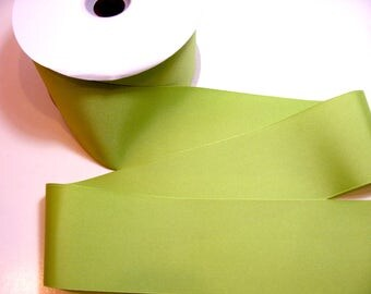 Wide Green Ribbon, Offray Kiwi Green Grosgrain Ribbon 3 inches wide x 3 yards