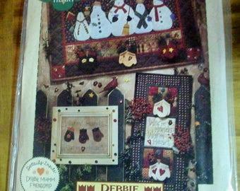 Debbie Mumm Warm Hands Warm Heart Quilt pattern also wall hanging and framed Mitten  Stitchin pattern