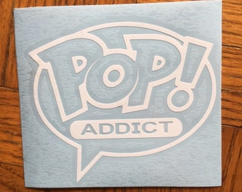 Funko Pop Addict Inspired Decal for Car, Laptop, Tumbler, Yeti, or Decor