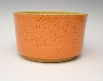 Contemporary ceramic planter Succulent pot Modern Planter Stoneware planter pottery planter orange  herb pot 6 x 3 1/2 free shipping