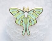 Luna Moth Hard Enamel Lapel Pin