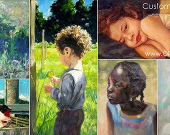 Custom Portrait Paintings DEPOSIT... Original Art, Photo Realism, Impressionistic, Fine Art, Bespoke, Gift or Memorial