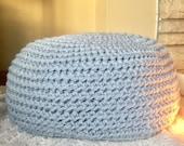 Large pouf ottoman crochet knit floor cushion pillow - not stuffed