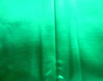 Vintage Emerald Green Satin Fabric 4 Yards