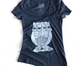 Double Owl - Ladies V-Neck