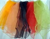 Vintage Rockabilly Ponytail Sheer Nylon Chiffon Scarf - Lot of 5 Scarves