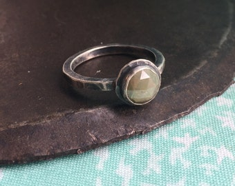 rustic & raw diamond engagement ring
