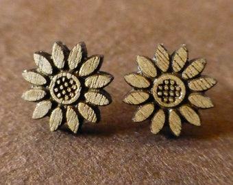 Flower Wooden Earrings