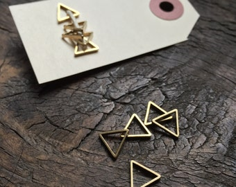 Set of Plain Tiny Triangle Stitch Markers