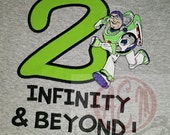 2 Infinity and Beyond Buzz Birthday Shirt 2nd Birthday Shirt