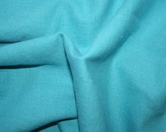 Special offer! Pool blue linen/cotton fabric 1.2 metre remnant piece