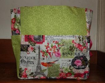 paris eiffel tower green bag/purse/ diaper bag