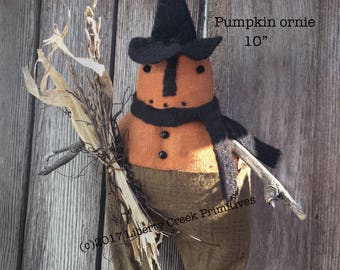 Fall Halloween Pumpkin Ornie Pattern Instant Download
