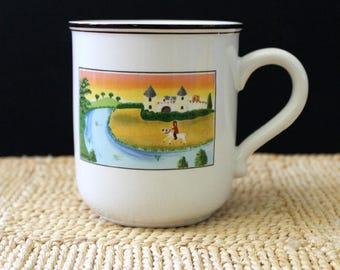 The Castle. Laplau mug or cup, Villeroy and Boch Design Naif. VITRO porcelain