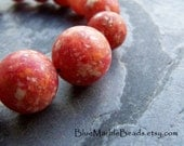 Matte Bead, Vintage Bead, Rustic Bead, Boho Bead, Coral Bead, Lucite Bead, Round Bead, Graduated Bead, Confetti Bead, Marble Bead, 15 Beads
