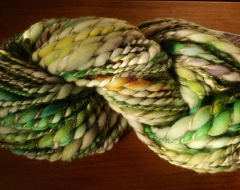 Fairy Land - 3 ply handspun yarn - 4.4 & 90 yards - handpainted supersoft merino, mohair,hemp