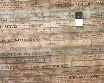 Tim Holtz PWTH017 Foundations Rulers Brown Cotton Fabric By Yard