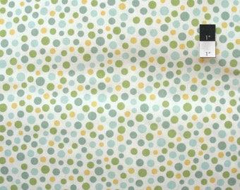 20% OFF SALE Kaufman Fabrics Dotty Dot Robins Egg Blue Cotton Canvas Fabric By Yard