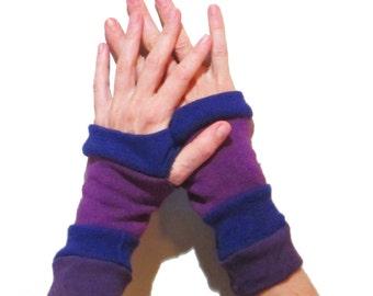 Striped Arm Warmers - Purple Rain
