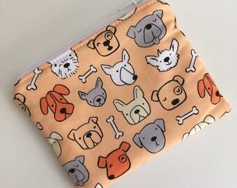 Dog Zipper Pouch Wallet, Dog Zipper Wallet, Scottie Dog Zipper Coin Purse