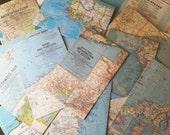 Vintage Maps - World & US Folding Maps - Lot of 24