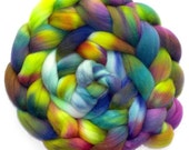 Falkland Roving Handdyed Combed Top - Jungle Dreams 6.1 oz.