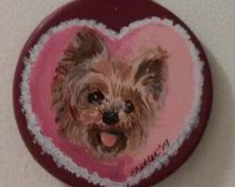 custom Valentine pet ornament, bisque ornament, furbaby ornament, Christmas ornament, dog ornament, rabbit ornament, porcelain ornament