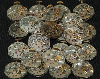 Vintage Antique Small Watch Movements Steampunk RE 18