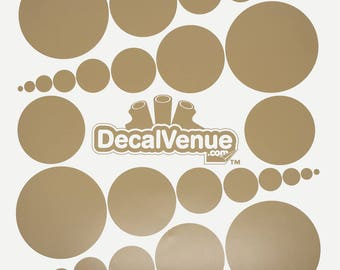 Light Brown Polka Dot Circles Wall Decals - Various sizes - Mix and Match dots vinyl stickers