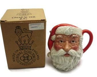 Royal Doulton Character Jug - Santa Claus, Original Box, Christmas, 1980s