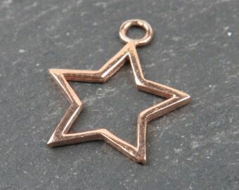 Rose Gold Vermeil Star Pendant 18mm (CG9064)