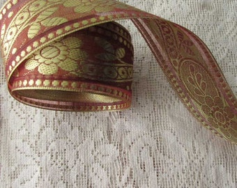 Wholesale Lot 7 Yards Authetic Metallic Sari Trim from India  TS-M