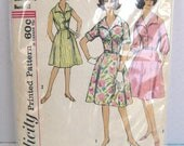 1960s Simplicity printed pattern 4478 misses one piece dress half size 13 bust 22.5