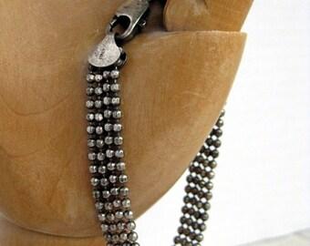 Vintage sterling 925 silver ball chain bracelet Italy vintage sterling silver