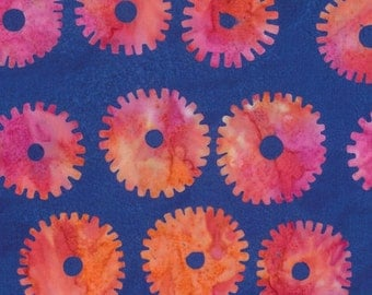 Kaffe Fassett Artisan Saw Circles Blue Fabric 1 yard