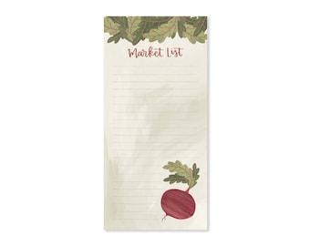 Market List Notepad // 1canoe2// Hand Illustrated