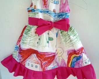 Dress with Children drawings