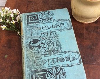 Antique blue book journal with blank pages by Binding Bee
