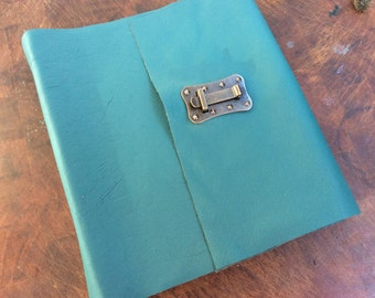 Large Photo Album - Turquoise Leather Photo Album Includes photo corners