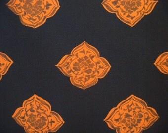 Vintage haori S413, black silk,