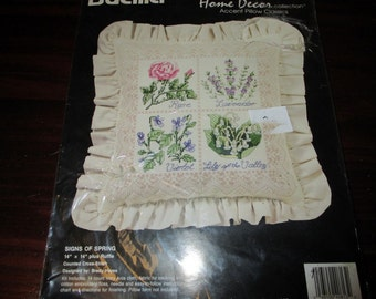 Sealed Kit Bucilla 40813 Signs of Spring Counted Cross Stitch Kit Brady Hayes Complete and Ready to Create