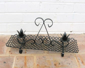 Vintage Metal Candle Holder Tray Vintage Metal Tray