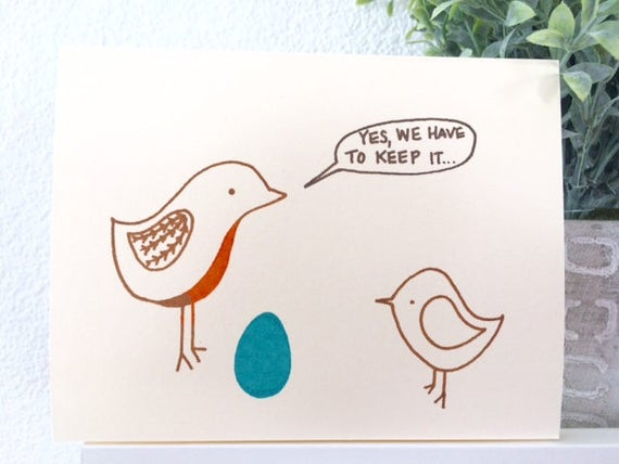 New Baby Card - Robin's Egg - Expanding Family - Expecting - Mother's Day